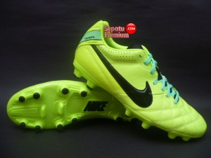 NIKE TIEMPO NATURAL IV LEATHER FG Volt-Black-Green.Glow