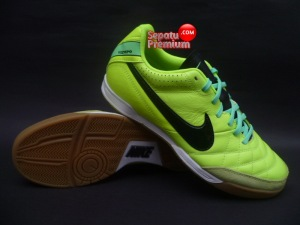 NIKE TIEMPO NATURAL IV LEATHER IC Volt-Black-Green.Glow