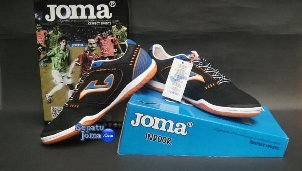 SEPATU JOMA SUPER FLEX 401 BLACK-ROYAL INDOOR-boxed