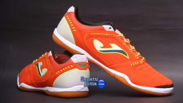 JOMA SUPER FLEX 408 ORANGE-WHITE INDOOR-backheel