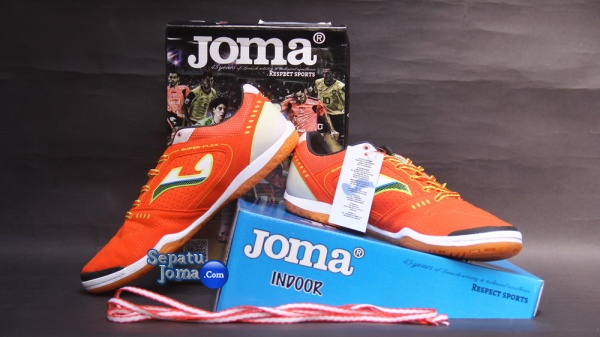 JOMA SUPER FLEX 408 ORANGE-WHITE INDOOR-boxed