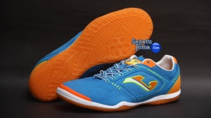 SEPATU FUTSAL JOMA SUPER FLEX 405 ROYAL-ORANGE INDOOR