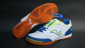 SEPATU FUTSAL JOMA TOP FLEX 405 WHITE-ROYAL INDOOR