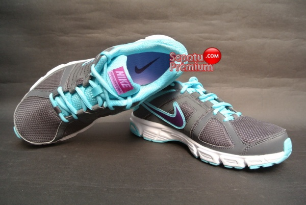 SEPATU NIKE WOMENS DOWNSHIFTER 5 MSL Grey-Grape-Volt-White