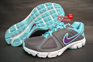 SEPATU RUNNING NIKE WOMENS DOWNSHIFTER 5 MSL Grey-Grape-Volt-White