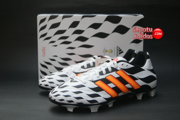 ADIDAS 11QUESTRA FG WORLD CUP 2014 White-Orange-Black-boxed