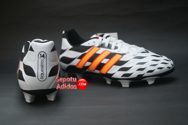 ADIDAS 11QUESTRA FG WORLD CUP 2014 White-Orange-Black-heel