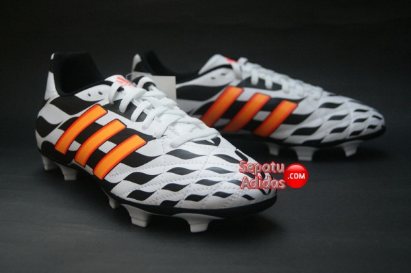 ADIDAS 11QUESTRA FG WORLD CUP 2014 White-Orange-Black-stand