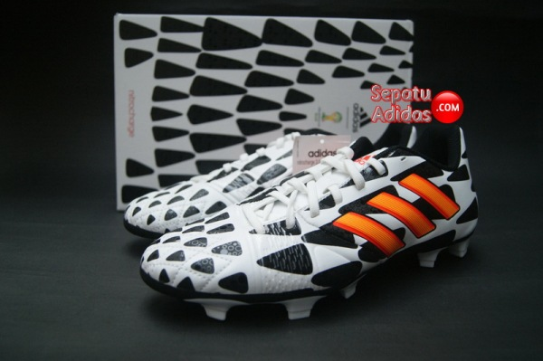 ADIDAS NITROCHARGE 3.0 FG WORLD CUP 2014 White-Gold-Black-boxed