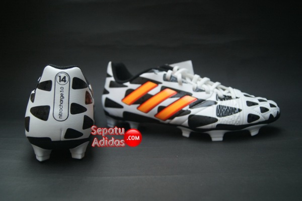 ADIDAS NITROCHARGE 3.0 FG WORLD CUP 2014 White-Gold-Black-heel