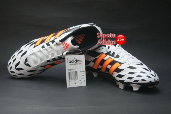 SEPATU ADIDAS 11QUESTRA FG WORLD CUP 2014 White-Orange-Black