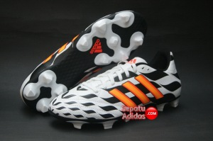 ADIDAS 11QUESTRA FG WORLD CUP 2014 White-Orange-Black-outsole
