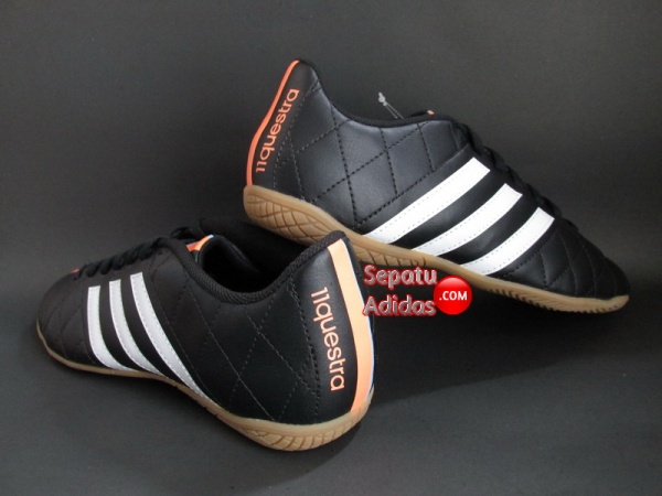 ADIDAS 11 QUESTRA IN Black-White-Orange SHOES