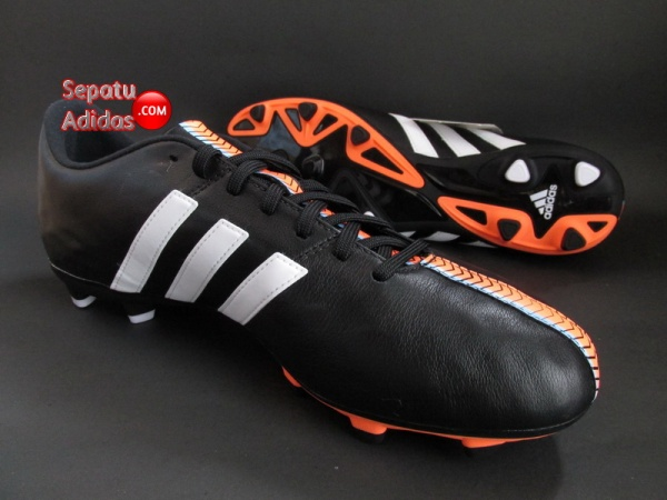 ADIDAS 11NOVA FG Black-White-Orange SOCCER CLEATS
