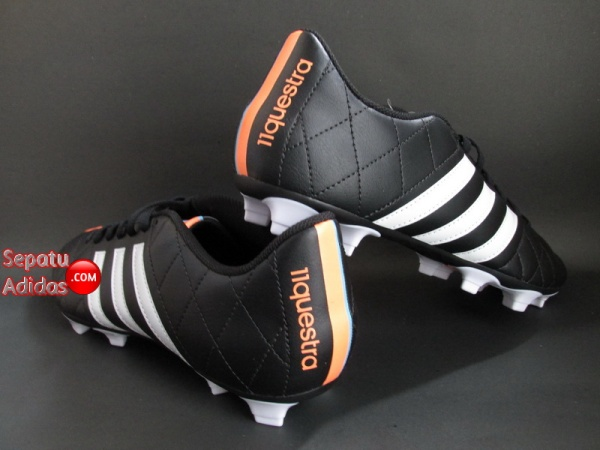 ADIDAS 11QUESTRA FG Black-White-Orange SHOES