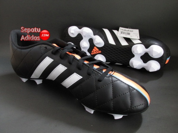 ADIDAS 11QUESTRA FG Black-White-Orange SOCCER CLEATS