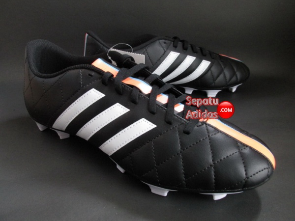 ADIDAS 11QUESTRA FG Black-White-Orange SOCCER SHOES