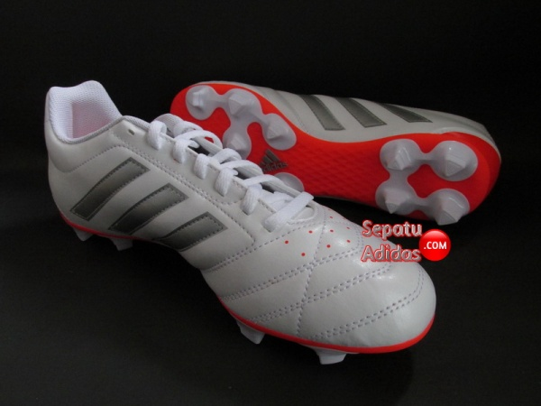ADIDAS GOLETTO V FG White-Silver-Red SHOES CLEATS