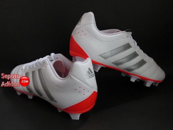 ADIDAS GOLETTO V FG White-Silver-Red SHOES