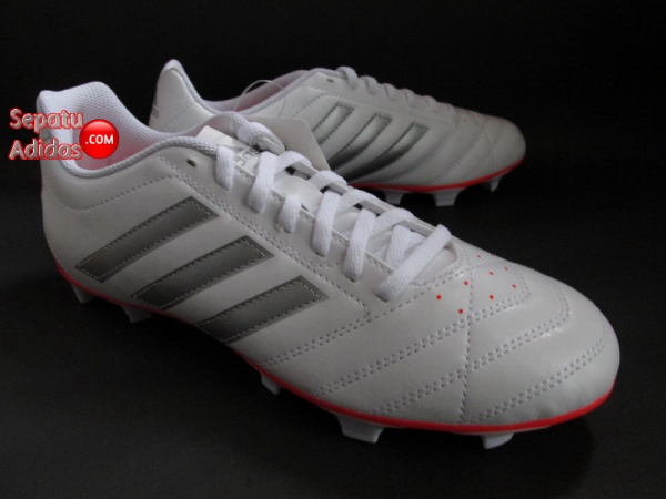 ADIDAS GOLETTO V FG White-Silver-Red SOCCER SHOES