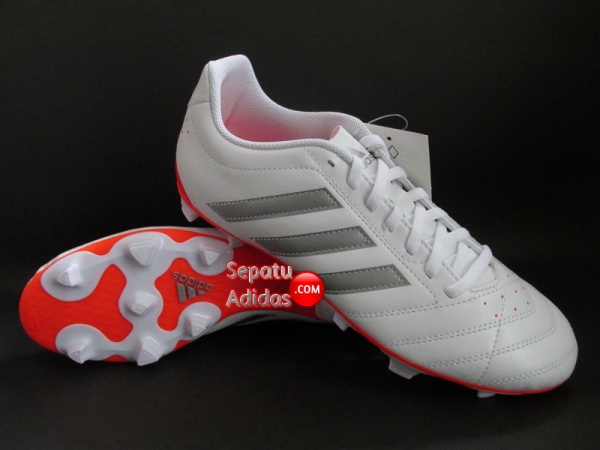 ADIDAS GOLETTO V FG White-Silver-Red
