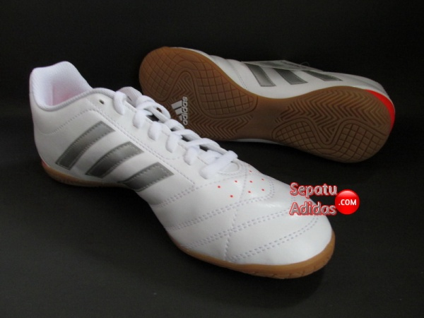 ADIDAS GOLETTO V IN White-Silver-Red FUTSAL SHOES