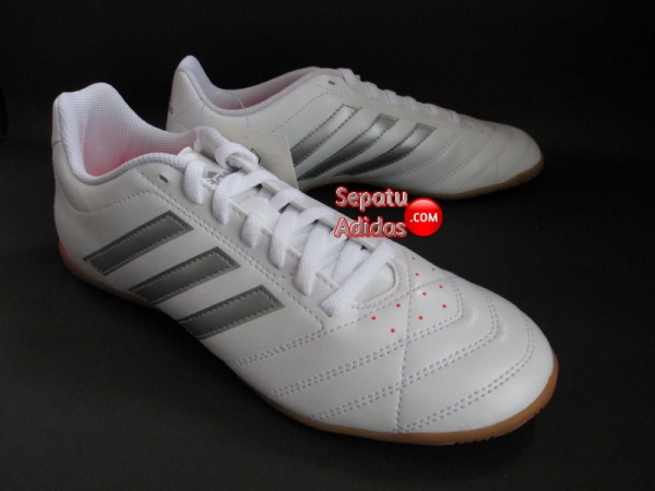 ADIDAS GOLETTO V IN White-Silver-Red INDOOR SOCCER SHOES