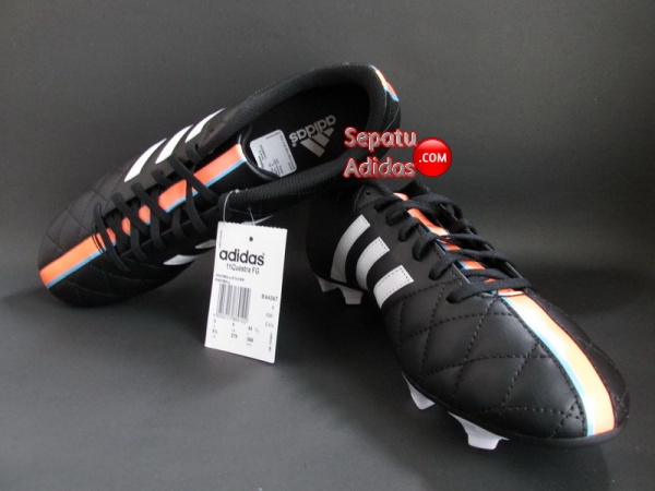 SEPATU ADIDAS 11QUESTRA FG Black-White-Orange