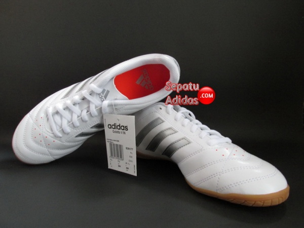 SEPATU ADIDAS GOLETTO V IN White-Silver-Red