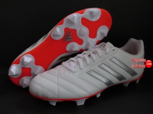 SEPATU BOLA ADIDAS GOLETTO V FG White-Silver-Red