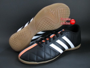 SEPATU FUTSAL ADIDAS 11 QUESTRA IN Black-White-Orange