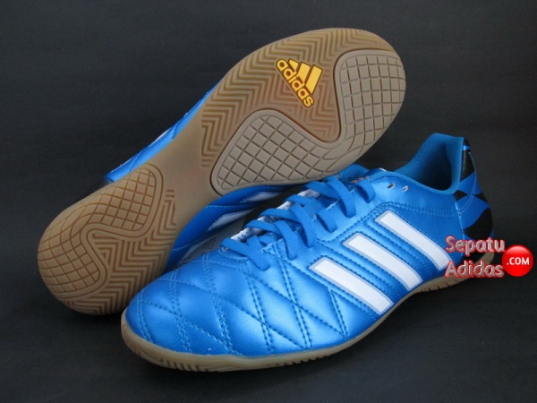 SEPATU FUTSAL ADIDAS 11QUESTRA IN Blue-White-Black