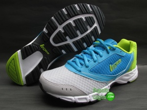 SEPATU RUNNING LEGAS TRACER LA WOMAN Blue.Grey-Lime.Punch
