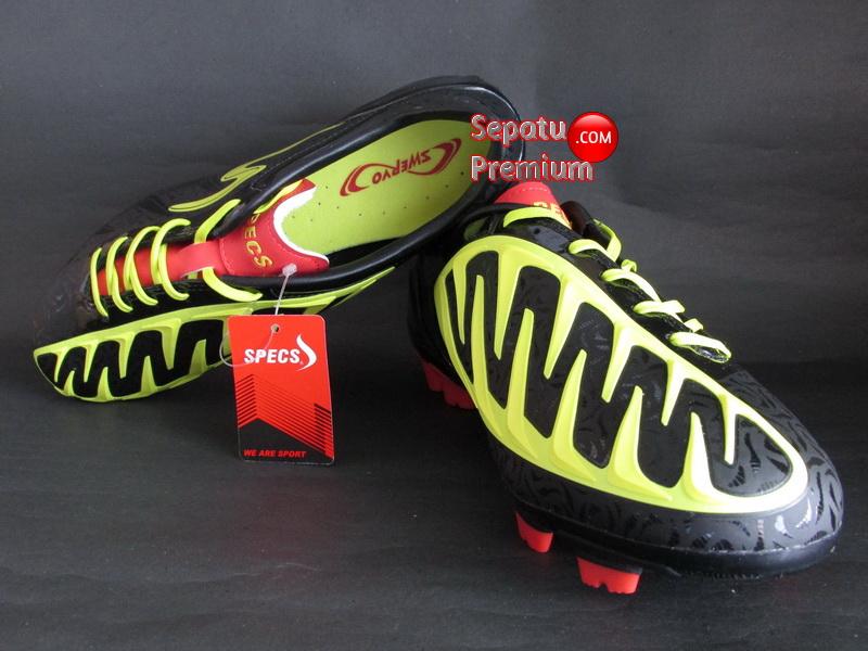 SEPATU SPECS SWERVO SHARK Black.Yellow