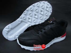 SEPATU PIERO ROCKER Black-Red-White